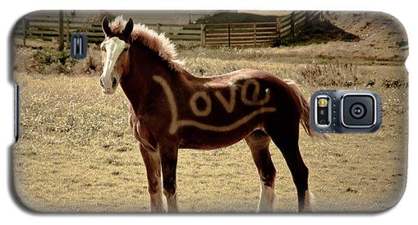Horse Love Galaxy S5 Case by Trish Tritz