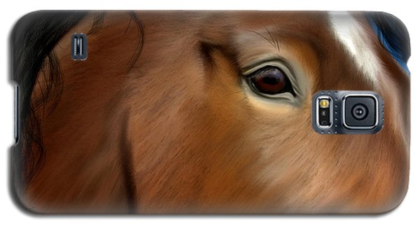Horse Portrait Close Up Galaxy S5 Case