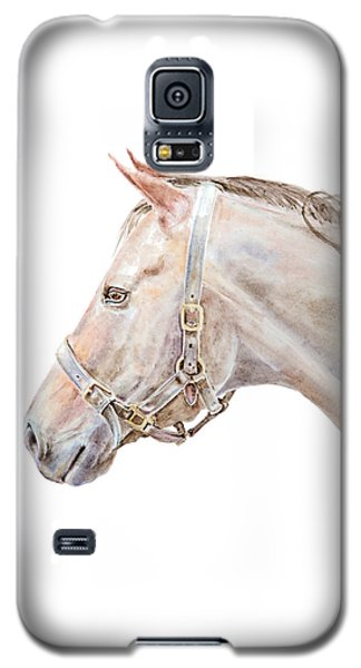 Galaxy S5 Case featuring the painting Horse Portrait I by Elizabeth Lock