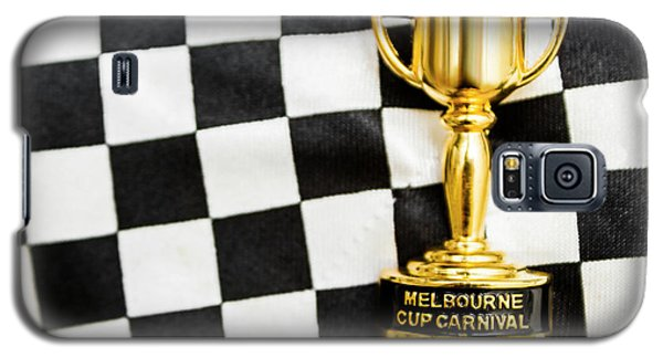 White Horse Galaxy S5 Case - Horse Races Trophy. Melbourne Cup Win by Jorgo Photography - Wall Art Gallery