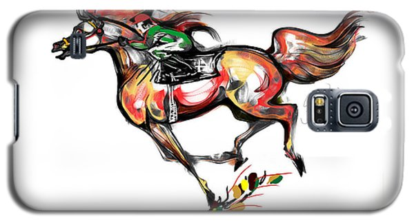 Horse Racing In Fast Colors Galaxy S5 Case by Stacey Mayer