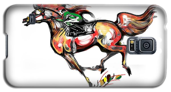 Horse Racing In Fast Colors Galaxy S5 Case