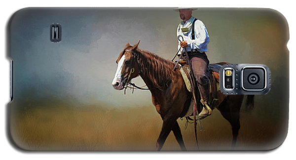 Galaxy S5 Case featuring the photograph Horse Ride At The End Of Day by David and Carol Kelly
