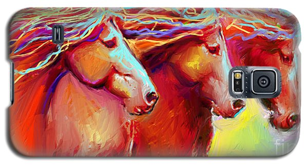 Horse Stampede Painting Galaxy S5 Case