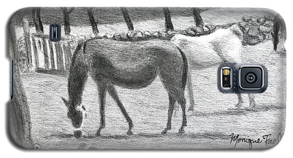 Horses And Trees In Bloom Galaxy S5 Case