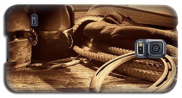 Horseshoe And Cowboy Gear Galaxy S5 Case