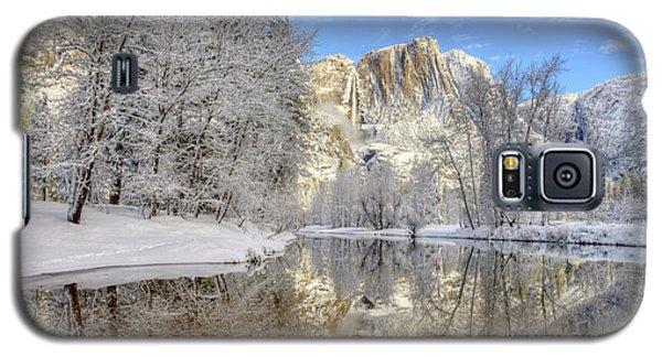 Horsetail Fall Reflections Winter Yosemite National Park Galaxy S5 Case