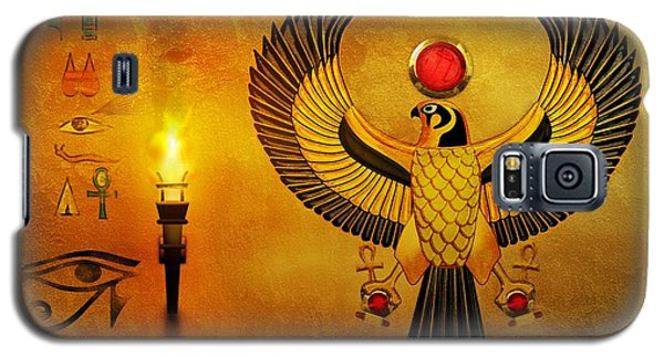Horus Falcon God Galaxy S5 Case by John Wills