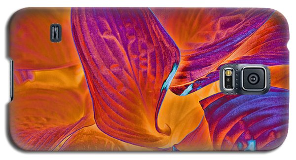 Galaxy S5 Case featuring the photograph Hostas With Sabattier by Bill Barber