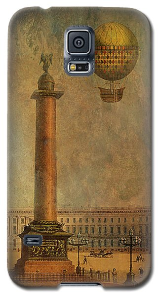 Galaxy S5 Case featuring the digital art Hot Air Balloon Over St Petersburg And The Hermitage by Jeff Burgess