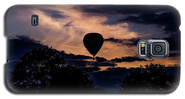 Hot Air Balloon Silhouette At Dusk Galaxy S5 Case
