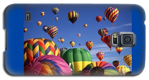 Beautiful Balloons On Blue Sky - Color Photo Galaxy S5 Case