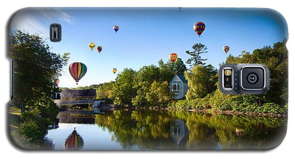 Hot Air Balloons In Queechee 2015 Galaxy S5 Case by Jeff Folger