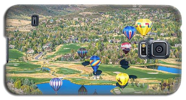 Hot Air Balloons Over Park City Galaxy S5 Case
