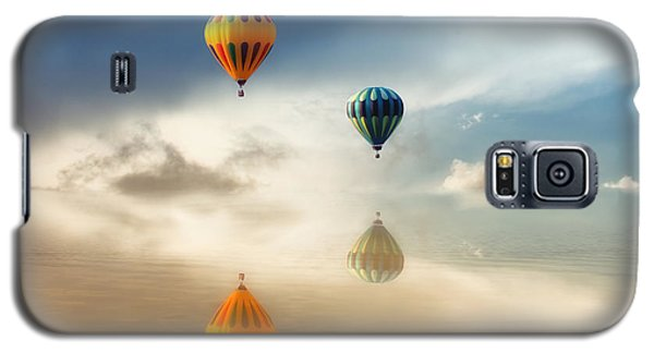 Hot Air Balloons Water Reflections Galaxy S5 Case by Tracie Kaska