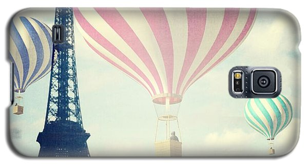 Galaxy S5 Case featuring the photograph Hot Air Balloons In Paris by Marianna Mills