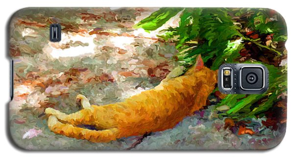 Galaxy S5 Case featuring the painting Hot Cat by David  Van Hulst