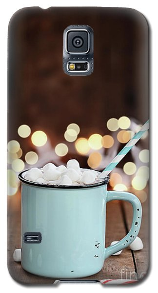 Galaxy S5 Case featuring the photograph Hot Cocoa With Mini Marshmallows by Stephanie Frey