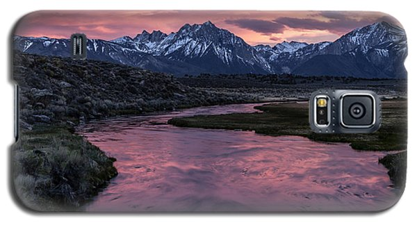 Hot Creek Sunset Galaxy S5 Case