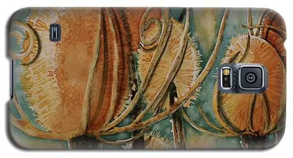 Galaxy S5 Case featuring the painting Hot Desert Sun by Cynthia Powell