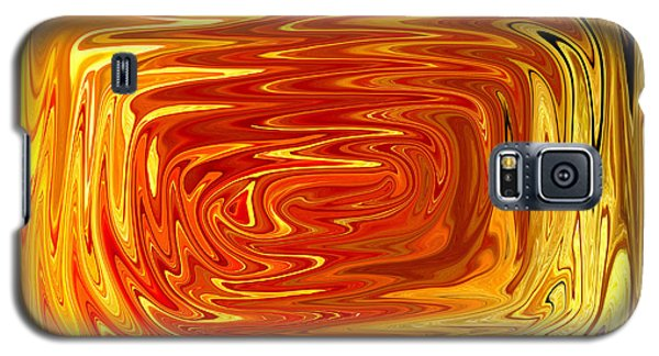 Galaxy S5 Case featuring the digital art Hot by Mary Bedy