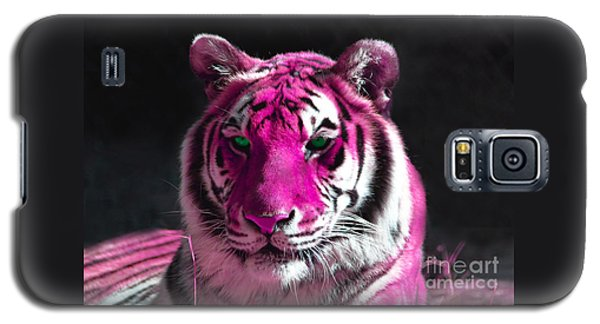 Hot Pink Tiger Galaxy S5 Case