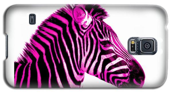 Hot Pink Zebra Galaxy S5 Case by Rebecca Margraf
