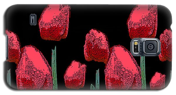Hot Red Tulips Galaxy S5 Case