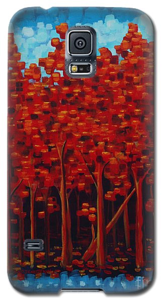 Galaxy S5 Case featuring the painting Hot Reds by Holly Carmichael