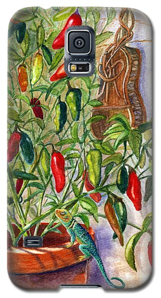 Galaxy S5 Case featuring the painting Hot Sauce On The Vine by Marilyn Smith
