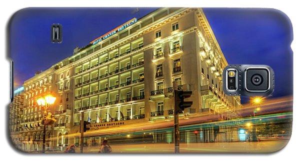 Galaxy S5 Case featuring the photograph Hotel Grande Bretagne - Athens by Yhun Suarez