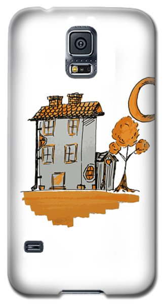 House And Moon Galaxy S5 Case