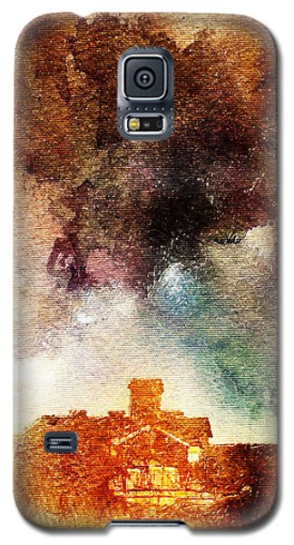 House And Night Galaxy S5 Case by Andrea Barbieri