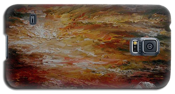 Galaxy S5 Case featuring the painting House By The Sea by Rushan Ruzaick