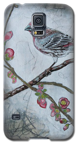 Galaxy S5 Case featuring the mixed media House Finch by Sheri Howe