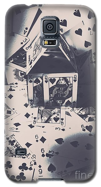 Galaxy S5 Case featuring the photograph House Of Cards by Jorgo Photography - Wall Art Gallery