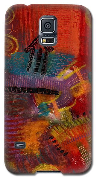 Galaxy S5 Case featuring the painting House Of Laughter by Angela L Walker
