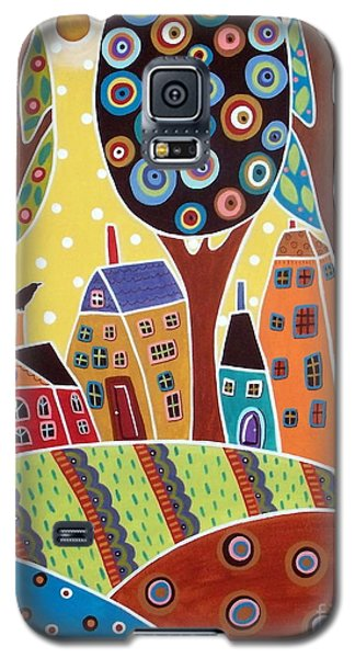 Blackbird Galaxy S5 Case - Houses Barn Landscape by Karla Gerard