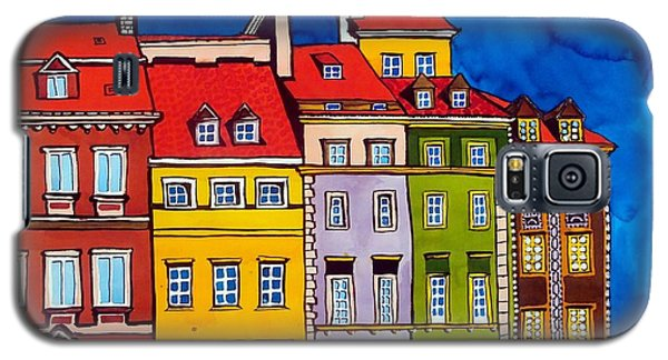 Houses In The Oldtown Of Warsaw Galaxy S5 Case by Dora Hathazi Mendes