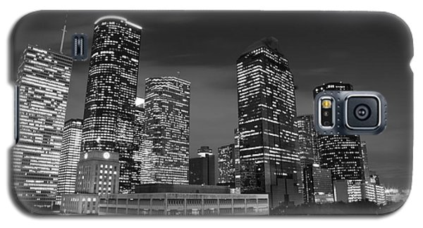 Houston By Night In Black And White Galaxy S5 Case