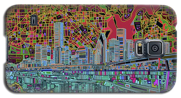 Houston Skyline Abstract 3 Galaxy S5 Case