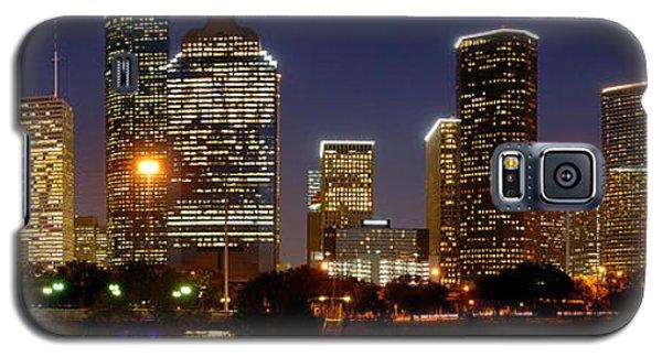 Houston Skyline At Night Galaxy S5 Case