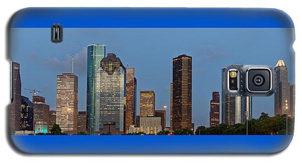 Galaxy S5 Case featuring the photograph Houston Skyline Panorama by Jonathan Davison