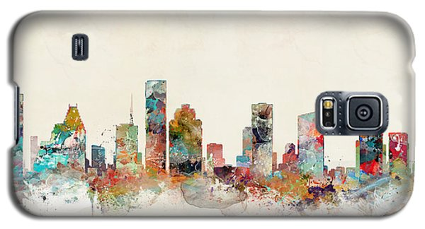 Galaxy S5 Case featuring the painting Houston Texas by Bri B