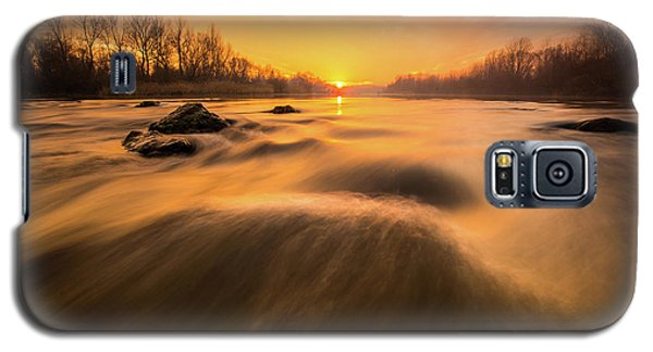 Galaxy S5 Case featuring the photograph Hovering Over The River by Davorin Mance