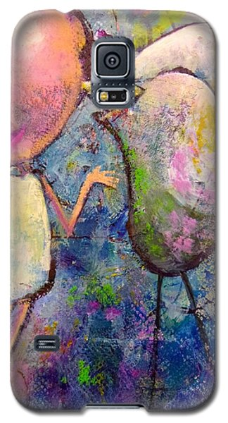 Galaxy S5 Case featuring the painting How I Learned To Sing by Eleatta Diver