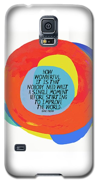 Galaxy S5 Case featuring the painting How Wonderful by Lisa Weedn