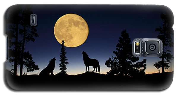 Howling At The Moon Galaxy S5 Case by Shane Bechler