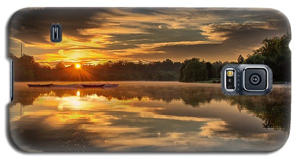 Hoyt Lake Sunrise - Square Galaxy S5 Case