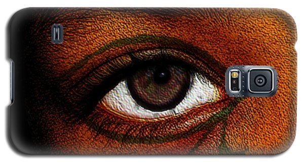 Galaxy S5 Case featuring the digital art Hru's Eye by Iowan Stone-Flowers